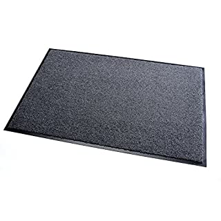 High Quality Rug & Shoe Scraper ✓ Extremely Durable ✓ Exterior and Interior ✓ Washable ✓ PVC Free - Entrance Mat, Welcome Mat - Exterior dust mat, Dirt trapping mat (SANSIBAR 90x120 cm, gray)