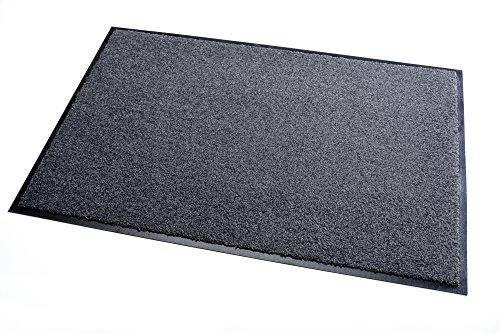 Premium Fußmatte Schmutzfangmatte SANSIBAR grau 90x120cm  Extrem strapazierfähig  Außen & Innen...