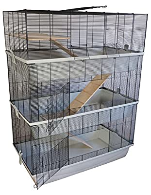 Carlos Sky Mouse/Hamster Cage with 3 Levels and 7 mm Wiring by PETGARD