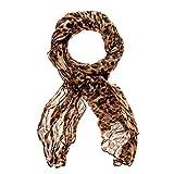 HAPPY EDITION Schal mit Tiger Aufdruck und Muster, 100 x 180 cm, Farbe:Braun