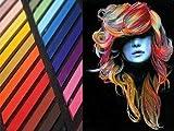 Lot de 36 craies pastels pour cheveux, non toxiques, temporaires et douces. Facile à utiliser et à laver. Disponible en lot de 12/24/32/36