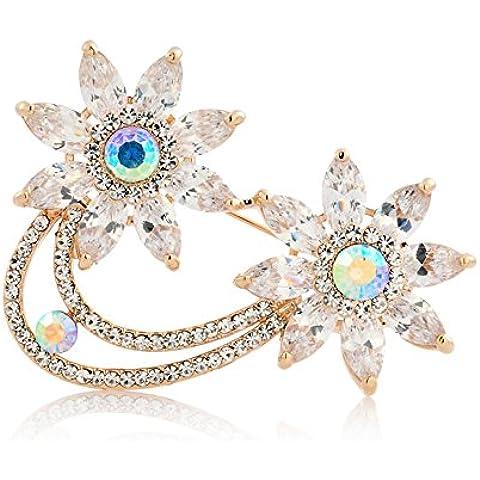 ZWX [más colores]/Broche de diamantes de imitación/ dulce estilo/ un broche único-C