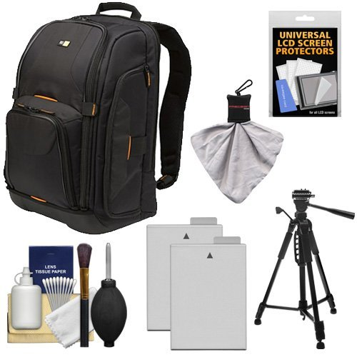 Case Logic Digital SLR Camera Backpack Case (Black) (SLRC-206) + (2) LP-E8 Batteries + Tripod + Accessory Kit for Canon EOS Rebel T2i, T3i & T4i  available at amazon for Rs.23949