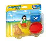 Playmobil 1.2.3 - Niña con perro, playset (6796)