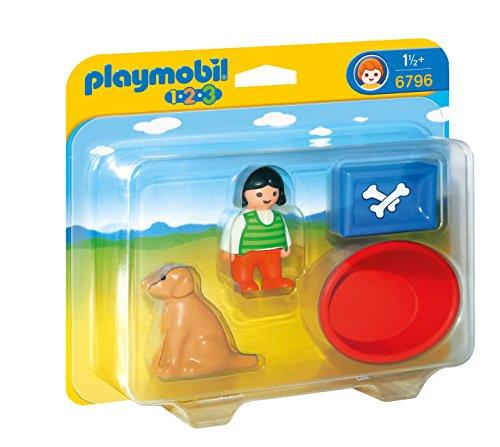 Playmobil 1.2.3 - Niña con Perro