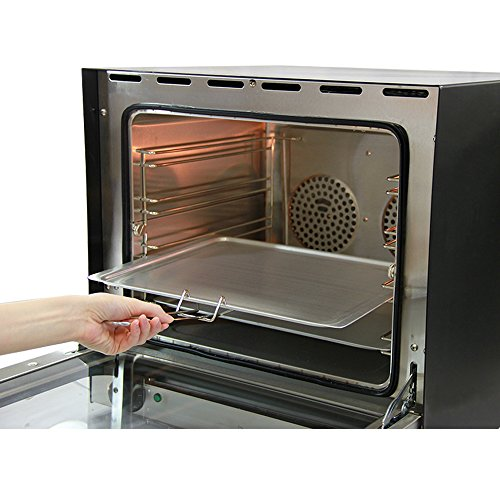 Electric Convection Oven / Twin Fan-Assisted 4 Trays Stainless Steel / Commercial Baking