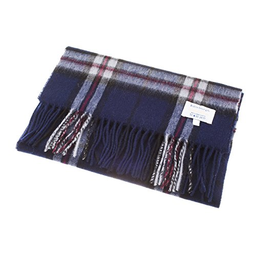 edinburgh-100-lambswool-scottish-tartan-multicolour-scarf-thomson-navy-one-size