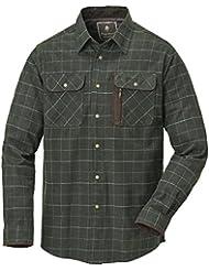 Pinewood Cornwall Camisa de franela para hombre, camiseta, hombre, color Verde oscuro, tamaño large