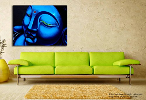 Tamatina Canvas Painting - Lord Buddha - Modern Art Paintings - Religious Canvas Art  available at amazon for Rs.348