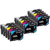 15 Druckerpatronen Uniwork Kompatibel für Epson 16 16XL für Epson Workforce WF-2750 WF-2660 WF-2650 WF-2630 WF-2540 WF-2530 WF-2520 WF-2510 WF-2010