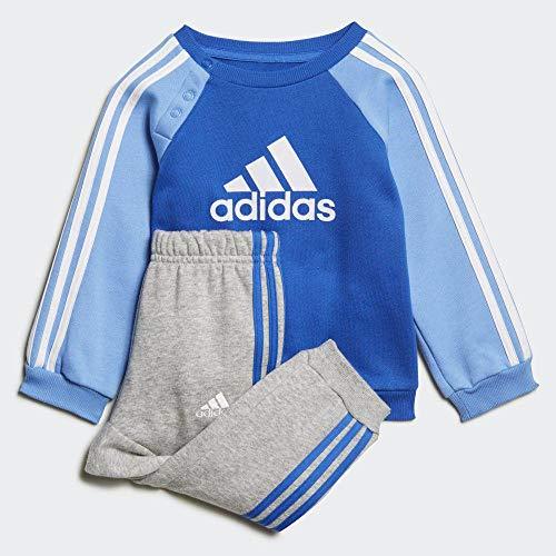 adidas Unisex-Kinder I Logo Jog FL Trainingsanzug, blau/weiß, 104