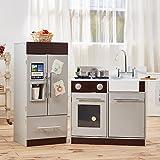 Teamson - Cocina moderna contemporánea, color gris / expresó