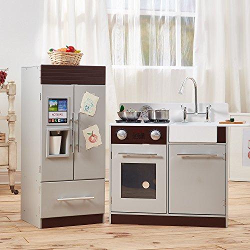 Cocina de juguete grande de madera gris de TeamsonKidsTD-12302B