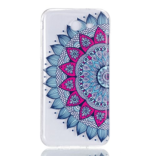 Samsung Galaxy J3 2017 [US Version] Hülle, Chreey [Gemalt Relief] Schutzhülle Ultra Dünn Slim Fit Transparent Kratzfest Weich TPU Silikon Case Handyhülle Klar Durchsichtig Backcover [Mandala]