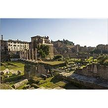 Cuadro sobre lienzo 60 x 40 cm: Roman forum, Rome de Vincent Xeridat - cuadro terminado, cuadro sobre bastidor, lámina terminada sobre lienzo auténtico, impresión en lienzo
