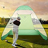 Golf Net Golf Practice Training Driving Chipping Hitting Net System Foldable Large Size Standing Golf Practise Aid Net Hitting Batting Cage For Indoor Or Backyard