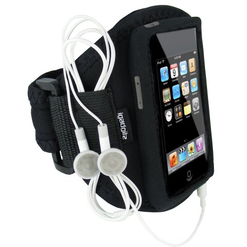 igadgitz Neopren Sportarmband für iPod Touch 1st, 2 nd, 3rd & New 4th Generation 8 GB, 16 GB, 32 GB & 64 GB Itouch Mp3