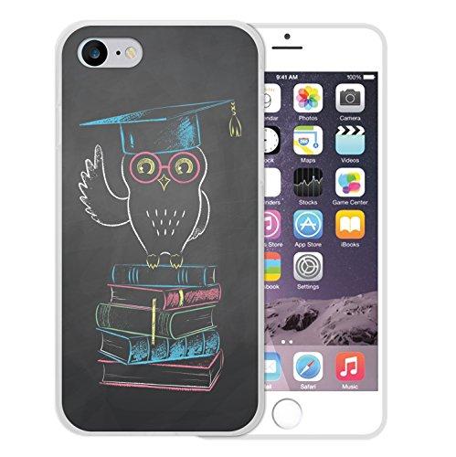 WoowCase Hülle Case für [ iPhone 7 ] Handy Cover Schutzhülle Gehirn, Musik und Wissenschaft Housse Gel iPhone 7 Transparent D0313