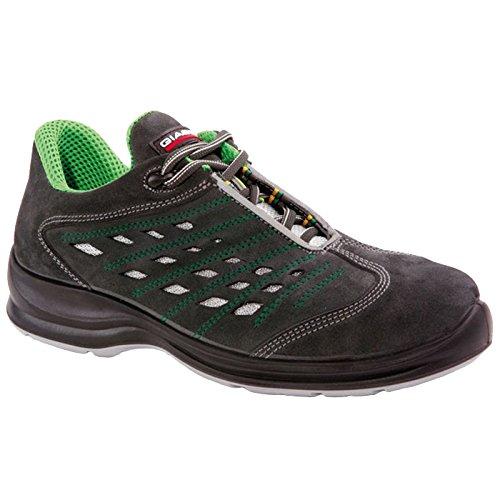 Giasco 91t01C39Eire Scarpe di sicurezza Basso S1P nero/verde, Multicolore, 91T01C40