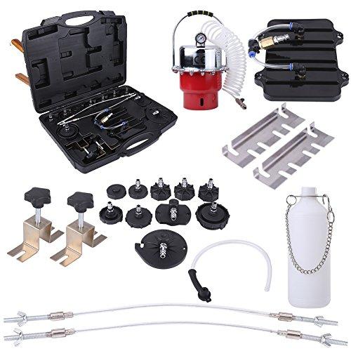 Bremsenentlüftungsgerät Druckluft Bremsenentlüfter Kit Tool Professional Bremsen-Entlüftungs-Set für Blutungen von Bremse und Kupplung Systemen, Air Supply 0-60PSI -