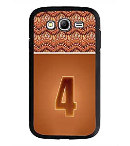 PrintDhaba Numerology Number 4 D-3636 Back Case Cover for SAMSUNG GALAXY GRAND I9082 (Multi-Coloured)