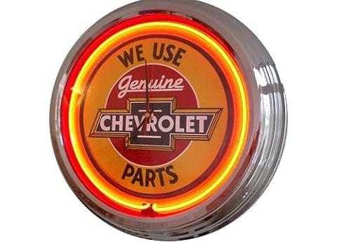 Neonuhr Chevy - Parts Wanduhr Deko-Uhr Leuchtuhr USA 50