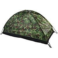 Dioche Camping Pop-up Tent, Waterproof One Person Tent Outdoor Camouflage UV Protection for Camping Hiking 200 * 100 * 100 cm