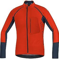 Gore Bike Wear Chaqueta Para Hombre 2 En 1 Ciclismo Talla M Naranja/Negro