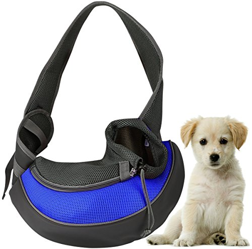 GPCT Pet Puppy Carrier Sling Hands-Free Shoulder Travel Bag. Great For Walking Your Pet. Dog Cat Pet Puppy Outdoor… 1
