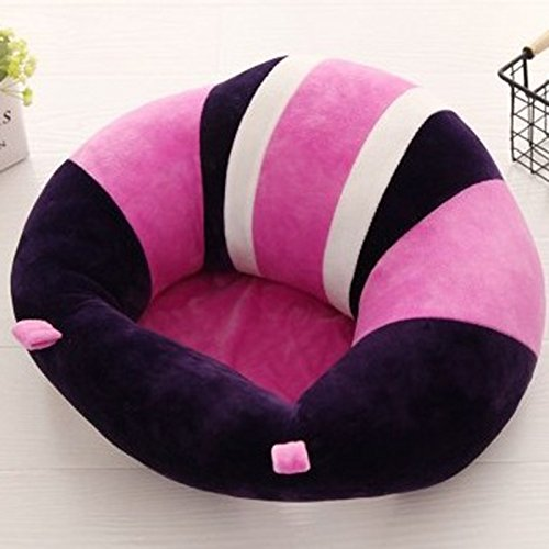 Colorido asiento de beb/é asiento de apoyo seguro silla de comedor coj/ín protectores de almohada de felpa coj/ín juguetes rosa rosa Talla:40 x 40 cm