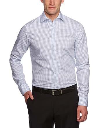 Schwarze Rose Herren Businesshemd Slim Fit 227285, Gr. 38, Blau (12 blau)