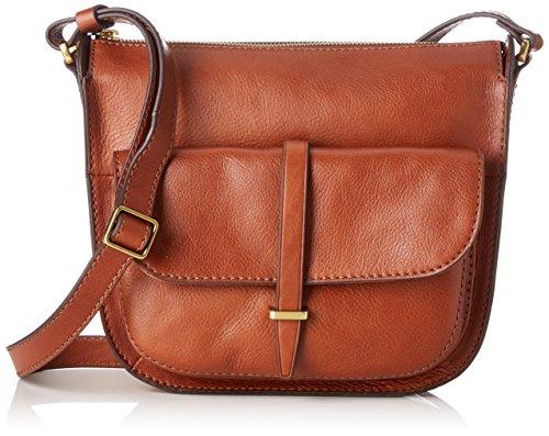Fossil Damen Damentasche- Ryder Crossbody Tasche Umhängetasche, Braun (Brown), 5.08x13.97x21.59 cm - Damen-fossil Handtaschen