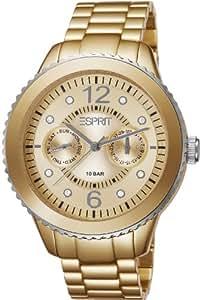 Esprit Damen-Armbanduhr Marin Aluminium Speed gold Analog Quarz ES105802005
