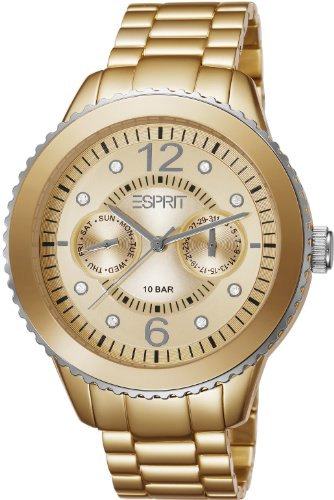 Esprit Marin Speed Women's Quartz Watch with Gold Dial Analogue Display and Gold Bracelet ES105802005