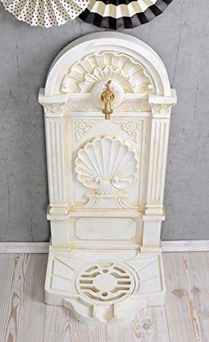 Antiker Standbrunnen, Zierbrunnen, Gartenbrunnen, Brunnen, Brunnen für den Garten, die Terrasse oder schöne Zuhause, in Altweiß - Palazzo Exclusive