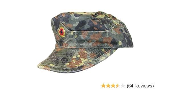 German Army Issued Bundeswehr BW Flecktarn Camouflage Field Cap   Amazon.co.uk  Clothing ea0147532db7