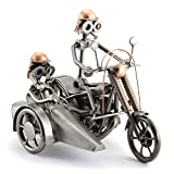 Steelman24 I Schraubenmännchen Harley Mit Beiwagen I Made in Germany I Handarbeit I Geschenkidee I Stahlfigur I Metallfigur I Metallmännchen