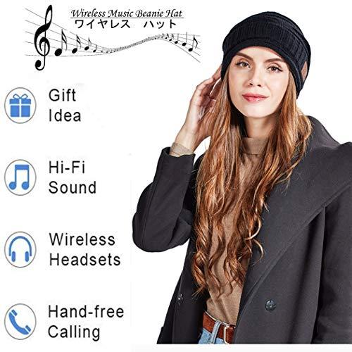 chuxuan Unisex Bluetooth Beanie für Herren Sport Laufen Kopfhörer Winter Strickmütze mit 2 HD Stereo-Lautsprechern & Mikrofon Einzigartige Coole Strümpfe für Männer Frauen Teenager Jungen Mädchen