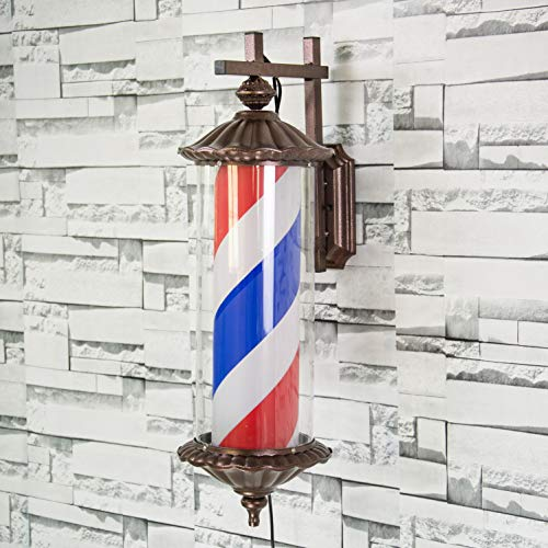LED Barber Pole Weiß Schwarz Rotierenden Beleuchtung Stripes Wasserdichte Licht Friseursalon Shop Zeichen,88 -
