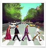 Juniqe® Affiche 70x70cm Humour Personnages politiques - Design Come Together (Format : Carré) - Poster, Tirages d'art & Tableaux par des Artistes indépendants créé par Amit Shimoni Illustration...