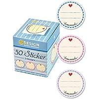 Avery Zweckform 56819 Sticker auf Rolle, Marmelade (38 mm, im Spender) 50 Aufkleber