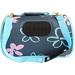 BPS (R) Portador Transportín Bolsa Bolso de Tela para Perro, Gato, Mascotas, Animales,Tamaño:(L,51x26x29cm) (Azul) BPS-2120-4