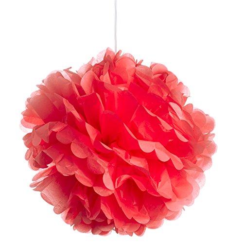 DIGE n27gp18/07 - 3 fleurs de papier de soie Ø 45 cm, rouge