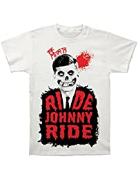 Official The Misfits Ride Johnny Ride Mens T-Shirt Vintage White