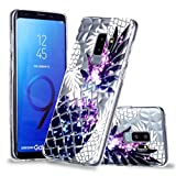 Artfeel Ultra Dünn Weich Klar Hülle für Samsung Galaxy S9 Plus, Samsung Galaxy S9 Plus Handyhülle Geprägt Bunte Ananas Geometrische Muster,Flexibel TPU Silikon Schutzhülle