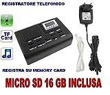 GRABADORA TELÉFONO DIGITAL TARJETA SD 16GB INCLUIDO. MICRÓFONO OCULTO LUZ CW51