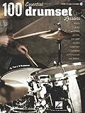 100 Essential Drumset Lessons (Book & Online Audio): Lehrmaterial für Schlagzeug