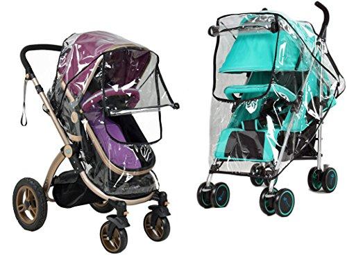 liltourist Kinderwagen Regenschutz, Regencover, Regenhaube, Regenverdeck mit Reißverschluss Fenster