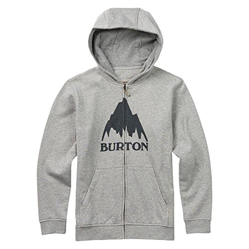 Burton Jungen Hoodie CLASSIC MOUNTAIN FULL-ZIP Gray Heather, M Burton Full Zip Sweatshirt