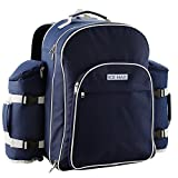 Icemax mochila de picnic con un conjunto de picnic para 6 personas